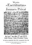 """Mòstra """"Escrituras"""" de Jaumes Privat"""